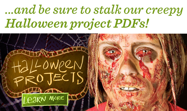 Creepy Halloween project PDFs