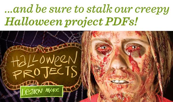 Creepy Halloween project PDFs